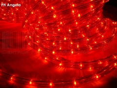 Wąż Świetlny 24 metry czerwony + prog.