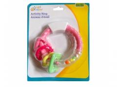 Grzechotka gryzak Angel 9cm zabawka -RÓŻOWA