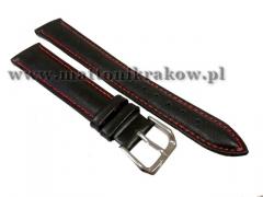 PASEK SKÓRZANY DO ZEGARKA 4490/BLACK-RED 12MM