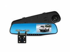 Rejestrator jazdy z kamera cofania lusterko