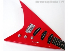 Gitara Elektryczna Typu V - Czerwona