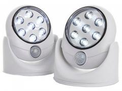 7 LED LAMPKA NOCNA Z CZUJNIKIEM RUCHU NA BATERIE