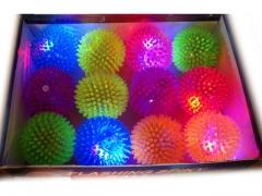 Piłka świecąca z kolcami mix