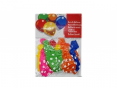 Balony kropki - zestaw balonów - 10szt