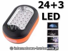 LATARKA LAMPA WARSZTATOWA MAGNES + WIESZAK 27 LED