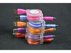 Ładowarka automat zwijany kabel micro USB MINI
