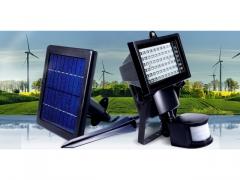 Lampa SOLARNA 60 LED Solar Halogen CAŁOROCZNA