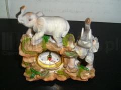 Zegar kominkowy słon