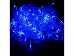 Lampki Choinkowe LED 300 Niebieskie Przeźroczyste