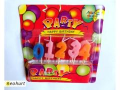 Świeczki urodzinowe CYFERKI zestaw 10x świeczka