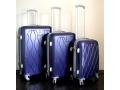 Zestaw walizek 3szt z tworzywa ABS 4 kółka Walizki