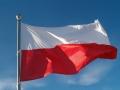Flaga Polski podłużna 147x89 Polska