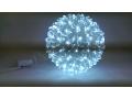 Kula 100 led Biały kolor wisząca - Lampki Choinkow