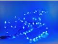 Sanki mikołaja led niebieski kolor 40x22cm