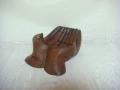 Dłonie - drewniana figura