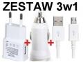ŁADOWARKA SIECIOWA SAMOCHODOWA 3w1 USB + GRATIS