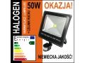 Halogen led 50W projekcyjna lampa halopak + czujni