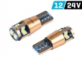 ŻARÓWKA VISION W5W T10 12/24V 10X 3030 SMD LED