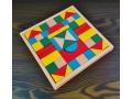 Klocki drewniane puzzle z podstawką 21x21cm