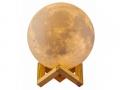 Lampka  świecąca 33cm księżyc 3d moon light 3tryb