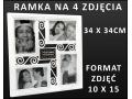RAMKA na ZDJĘCIA RAMKI 4 ZDJĘCIA FOTORAMKA MULTI 4