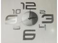 Zegar samoprzylepny na ścianę - 2 kolory
