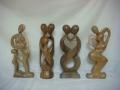 Abstrakcja - figura drewniana