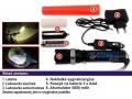 Latarka akumulatorowa LED zoom + NAKŁADKA