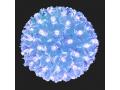 Lampki choinkowe 100 led, kula wisząca  niebieska