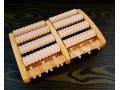 Drewniany masażer rolkowy do stóp LUX