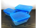 Zestaw pojemników 3szt do żywności 520ml, 1,1L, 2L