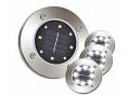 DISK LIGHT Lampki SOLARNE GRUNTOWE OGRODOWE 4 SZT