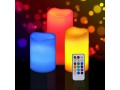 ŚWIECE LED RGB ŚWIECZKI NA PILOTA 3szt 12xKOLORÓW