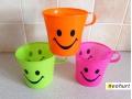 Kubek dla dzieci plastikowy UŚMIECH mix kolor