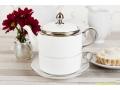 ZESTAW DO HERBATY TEA FOR ONE BIAŁY SREBRO 444-422