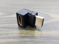 Wtyk kątowy przejściówka 90 stopni HDMI - HDMI