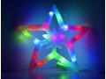 Świąteczna Ozdoba Do Okna Led - Kolorowa Gwiazdka