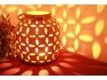 LAMPION CERAMICZNY 17,8CM KREMOWY YSD374A