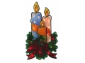 Dwustronna Świąteczna Dekoracja Do Okna - Świece