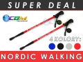 Kijek Trekingowy Nordic Walking 135 cm kijki
