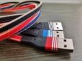 Kabel USB -C płaski nylonowy oplot