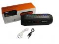 PRZENOŚNY GŁOŚNIK BLUETOOTH LED USB MP3 LATARKA