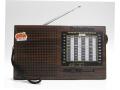 Radio przenośne drewno styl z akumulatorem