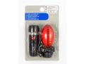 Lampka rowerowa ZESTAW LED + LED przód/tył