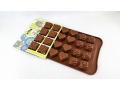 Forma silikonowa do czekolady pralinki 3 wzory