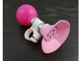 Trąbka rowerowa różowa metalowa
