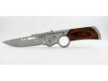 Scyzoryk nóż boczny sprężynowy 21cm drewno