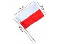 Flaga Polski duża na patyku Polska