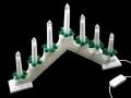 Biały Świecznik Adwentowy 7 LED