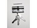 Wkładka do zamka srebrna 60mm 3 klucze